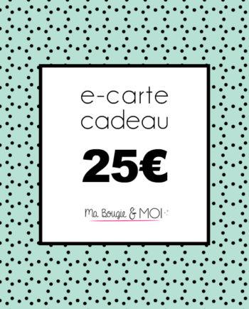 E-CARTE CADEAU à 25€