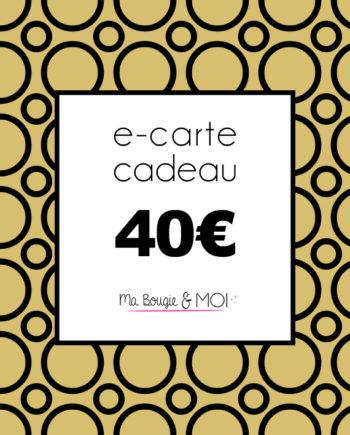E-Carte cadeau à 40€