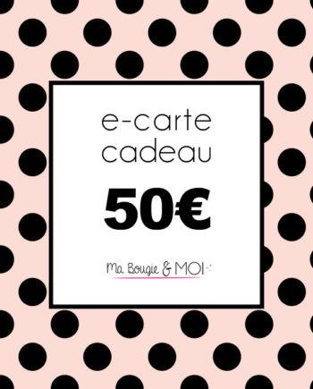 E-Carte cadeau à 50€