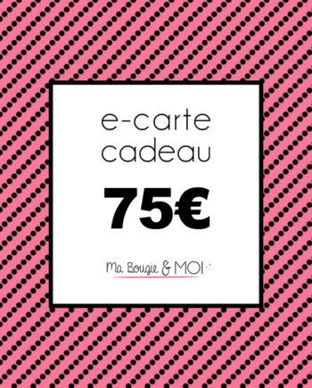 E-CARTE CADEAU à 75€