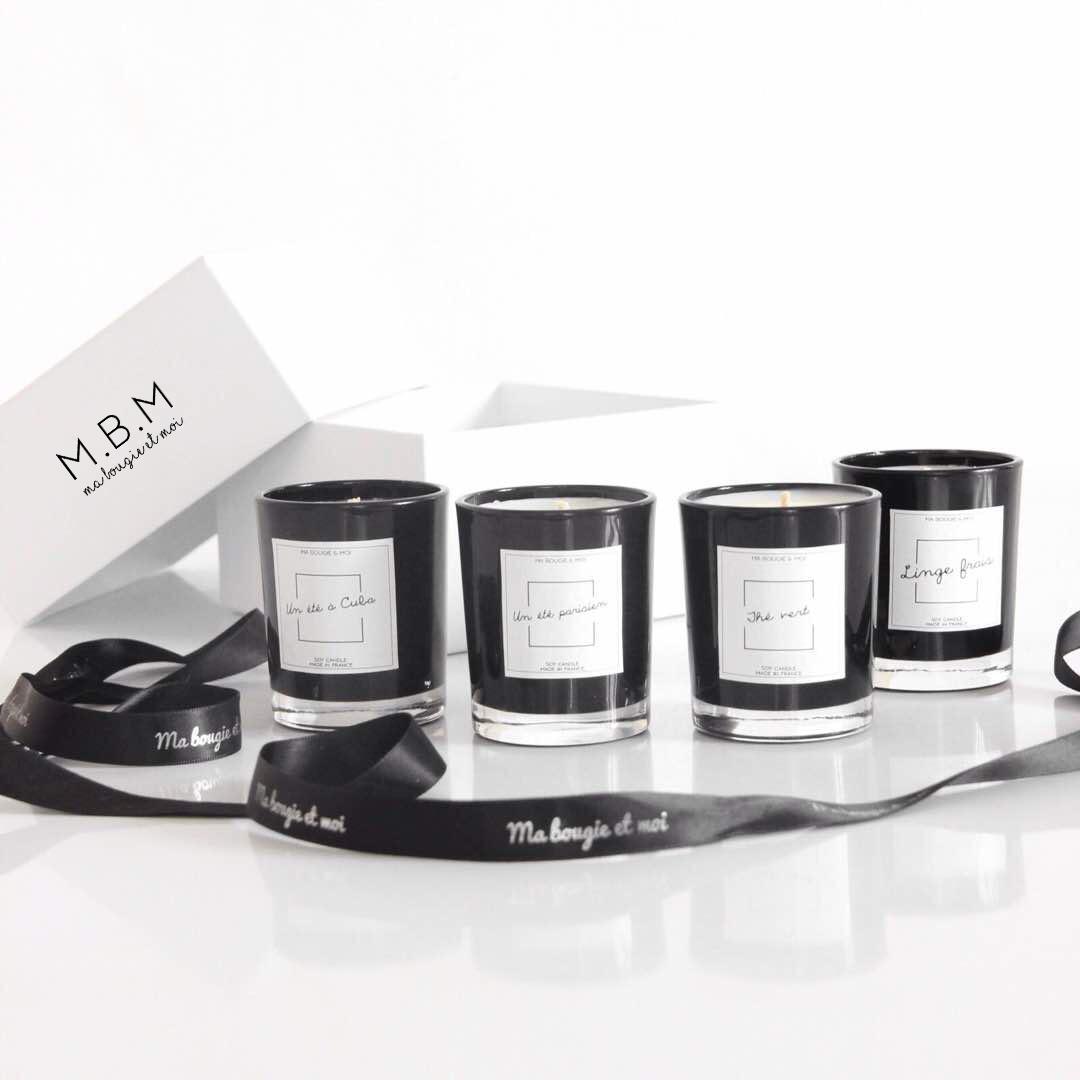 coffret l gance lot de 4 bougies parfum es ma bougie. Black Bedroom Furniture Sets. Home Design Ideas