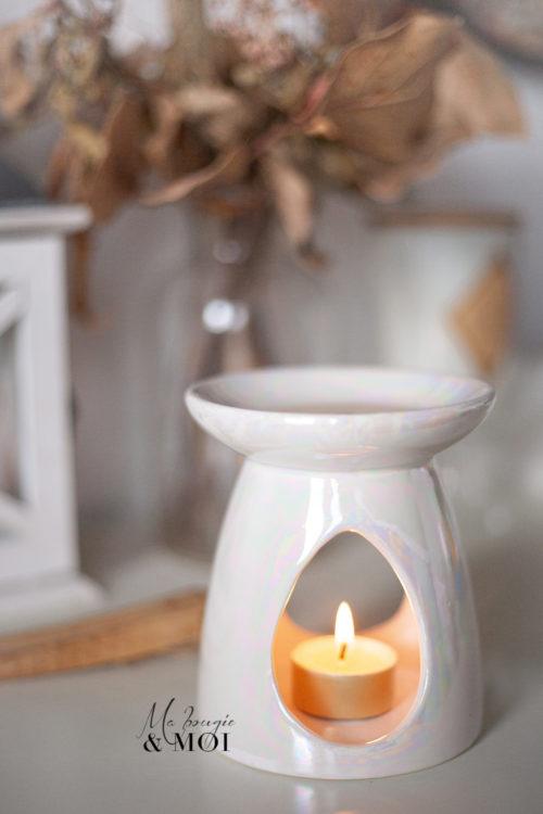 Brûle-parfum NACRE (GRIS)