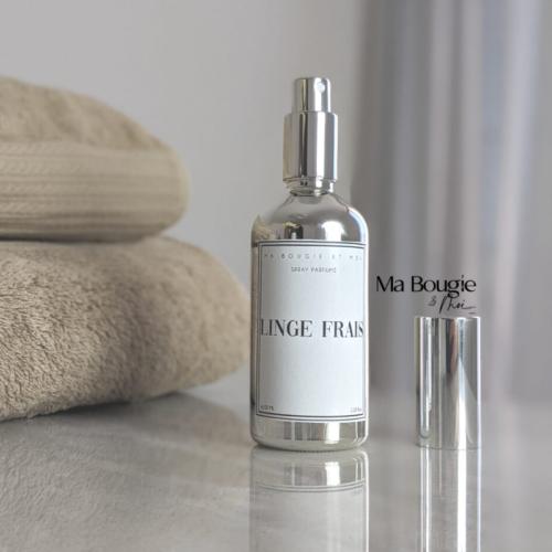 Spray parfumé d'intérieur / linge de maison