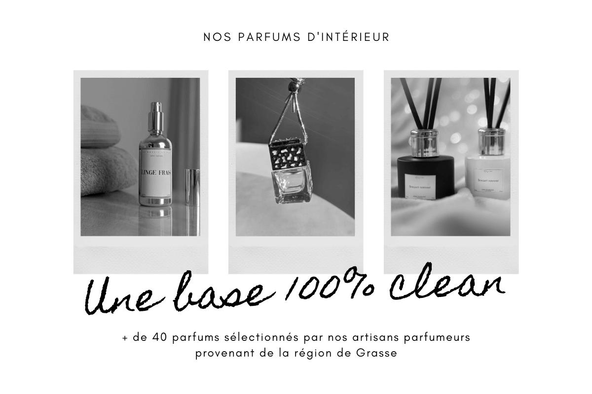des parfums d'intérieurs clean